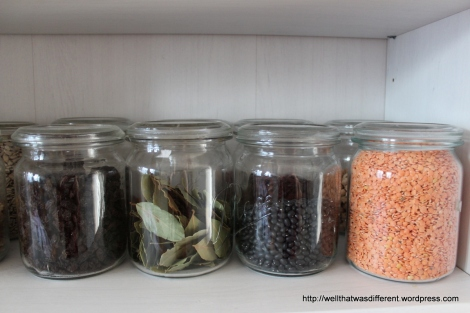Rese canning jars. Super handy!