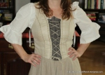 One my recent scores: a well-made Austrian dirndl that isn't too tacky. I look more like an Irish pirate wench than an Austrian when I wear it, but that's OK! ARRHHH!