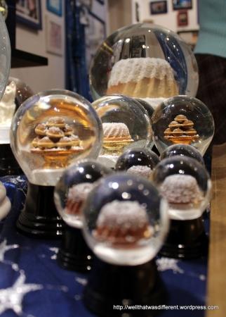 Pastry snow globes.