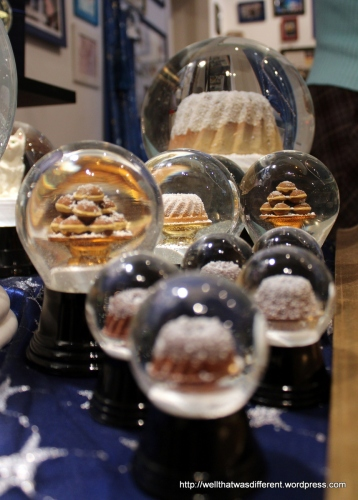 Pastry snow globes.