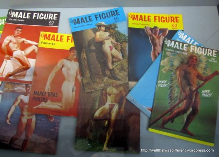 Early gay softcore. These are a hoot.  But no sillier than early girlie pinups.