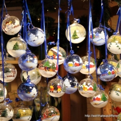 Handpainted ornaments.