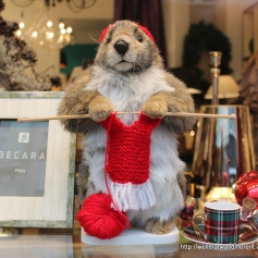 It wouldn't be Advent without a mechanical knitting woodchuck.