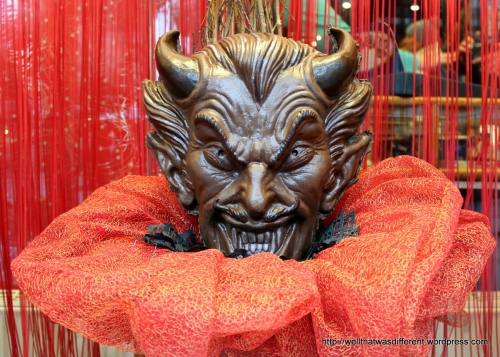 Huge chocolate Krampus. Yikes.