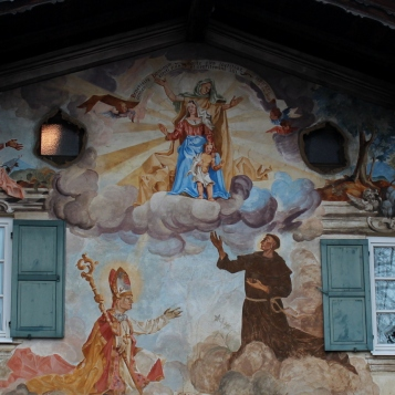 Many of the murals have a Catholic theme.