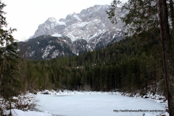 A chilly, but lovely, hike around the Eibsee.