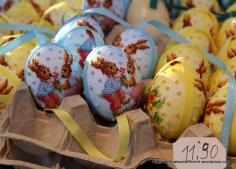 Petit-point eggs.
