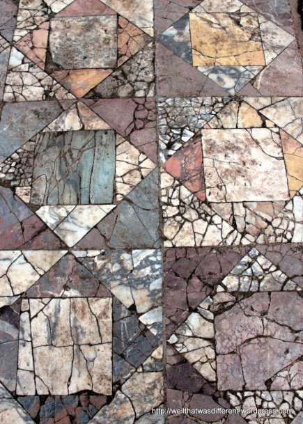 Ancient Roman tile floor on Palatine Hill