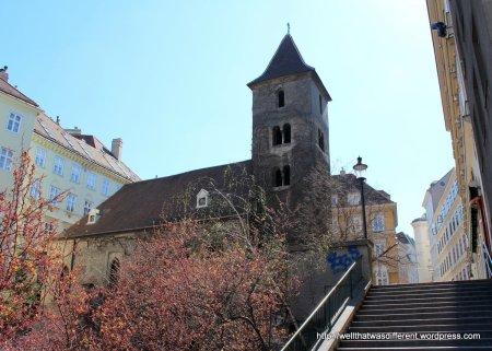 St Ruprecht overlooks Morzinplatz and the Danube Canal