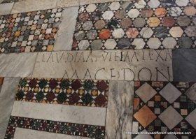 Recycled Roman tile in San Crisogono Trastevere