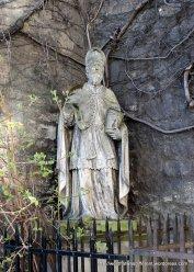 St Ruprecht holding a salt cellar