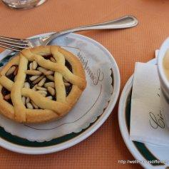 Cherry and pine nut tart, YUM