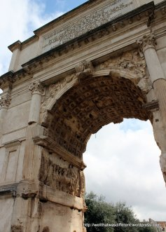 The Arch of Constantine next to the Coliseum