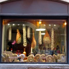 Pizzeria window