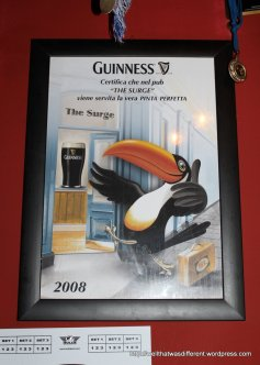 The first Italian-language Guinness poster I have ever seen