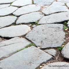 Original Roman road--the Appian Way