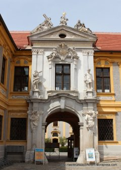 Entrance to the Abbey courtyard