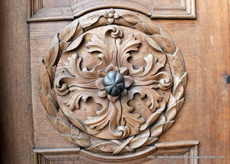 Nicely carved door