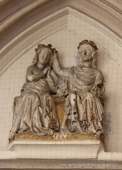 Medieval couple--church patrons, perhaps?