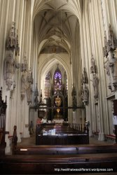 Partially restored Gothic interior--the nave is the oldest part of the church.