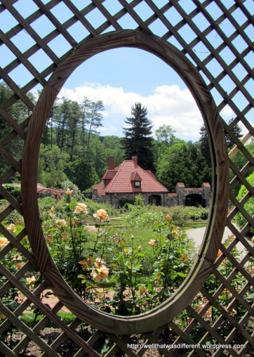 Keyhole view of the garden