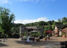 A rather nice, if Busch Garden-y, plaza