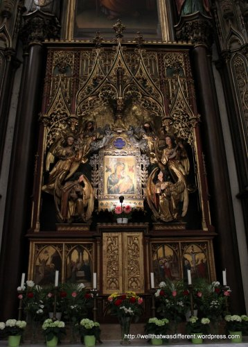 Side altar--mix of 14th and 19th century elements