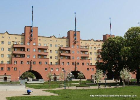 Karl Marx Hof's huge courtyard