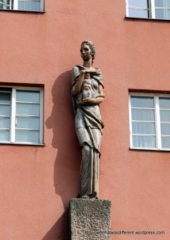 """""""Health"""" one of the four statues on the facade"""