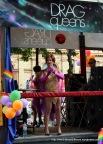 Danish drag queen singing Abba.