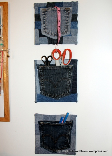 Less white wall, more denim.