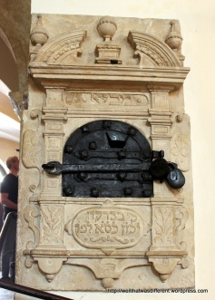 Tithing box in the Old Synagogue
