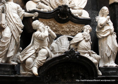 Inside the cathedral--cowering Moors at the feet of Jan Sobieski