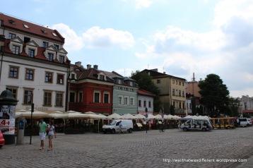 The main square in Kazimierz (Plac Szczepański)