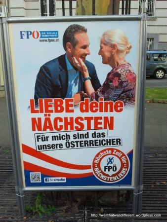 Austrian Freedom Party: same slogan, same subtext: protect our womenfolk.