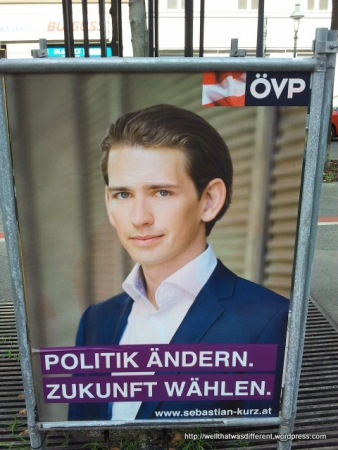 Austrian People's Party (Christian Democrats): Change politics, vote for the future. (Or a younger version of the guys above...)