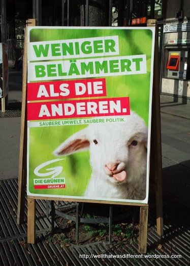 Less sheepish than the others. Cleaner environment, cleaner politics.