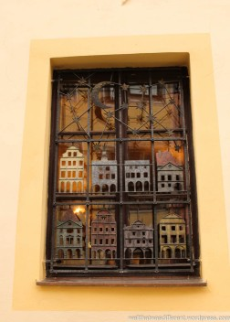 I LOVE these wrought iron windows.