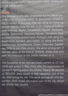 From a photo exhibit in a park documenting the destruction of Warsaw--with aerial photos the Nazis took themselves.