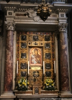 Inside the Duomo--a Black Madonna.