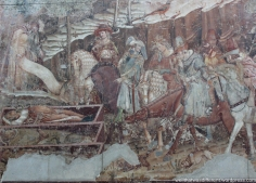 Fresco about the plague. Notice the guy holding his nose.