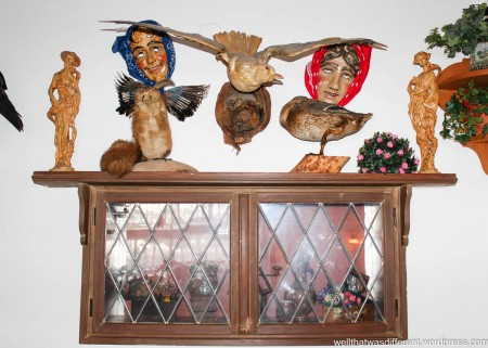 Taxidermy goes with everything. Especially creepy masks.