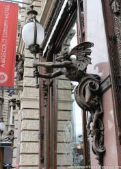 Very cool Art Nouveau details on buildings.