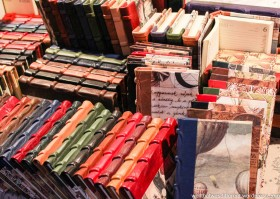 Handmade, leather-bound books (pretty but pricey!)