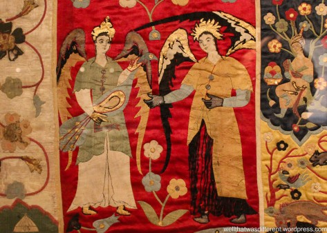 Islamic angels on an Ottoman Turkish tapestry.