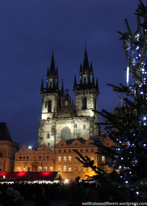 Christmas market in Starometske Namesti (Old Town Square).