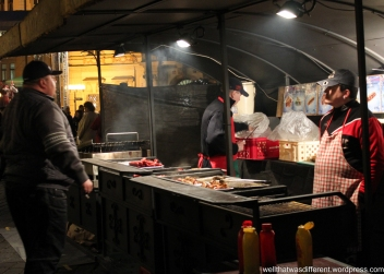 Sausage vendor in Starometske Namesti.
