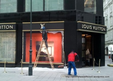 Louis Vuitton. Well, it was kind of an obvious target.