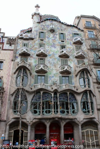 Casa Battlo, designed by Gaudi.