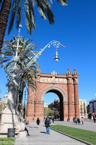 The Arc de Triomf, built for the 1888 World's Fair.